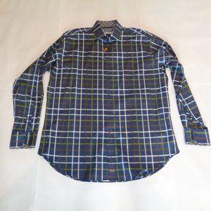 Thomas Dean Size XL Navy New Mens Button Shirt